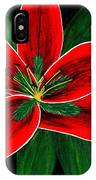 Red Oriental Lily IPhone Case