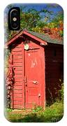 Red Outhouse IPhone Case
