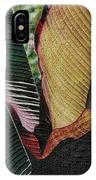 Red Palm Leaves IPhone Case