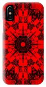 Red Patchwork Art IPhone Case