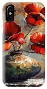 Red Poppies 02 IPhone Case
