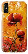 Red Poppies 023 IPhone Case