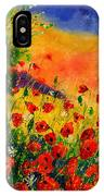 Red Poppies 45 IPhone Case