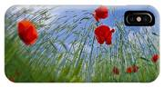 Red Poppies And Blue Sky IPhone X Case