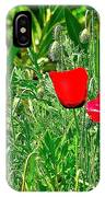 Red Poppies Near Meryem Ana Evi-cottage Believed To Be Mary's Last Home-turkey IPhone Case