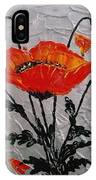 Red Poppies Original Palette Knife IPhone Case