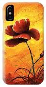 Red Poppy 012 IPhone Case