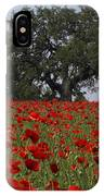 Red Poppy Field IPhone Case