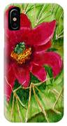 Red Prickly Pear IPhone Case