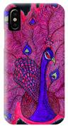 Red - Purple Peacock IPhone Case
