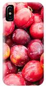Red Ripe Plums IPhone Case