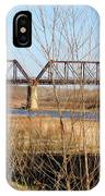 Red River Train Trussell IPhone Case
