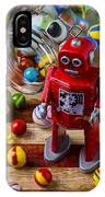 Red Robot And Marbles IPhone Case