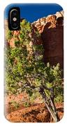 Red Rocks And Tree 1 IPhone Case
