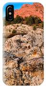 Red Rocks Over White IPhone Case