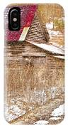 Red Roof In The Snow  IPhone Case