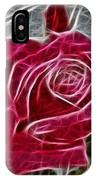Red Rose Expressive Brushstrokes IPhone Case