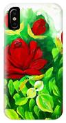 Red Roses From The Garden Impression IPhone Case