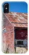 Red Rustic Weathered Barn IPhone Case