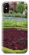 Red Salad And Roses - Chateau Villandry Garden IPhone Case
