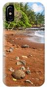 Red Sand Seclusion - The Exotic And Stunning Red Sand Beach On Maui IPhone Case