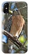 Red-shouldered Hawk On Branch IPhone Case