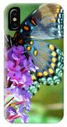 Red Spotted Purple Butterfly Photopainting IPhone Case