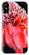 Red Torch Ginger On Black IPhone Case