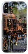 Red Tractor Fountain IPhone Case
