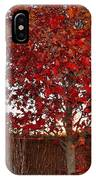 Red Tree At Sunset IPhone Case
