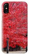 Red Tree Line IPhone Case
