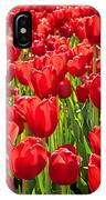 Red Tuilip Bed IPhone Case