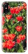 Red Tulip Bed IPhone Case