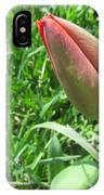 Red Tulip Bud IPhone Case