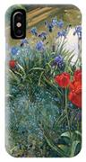 Red Tulips And Geese  IPhone Case