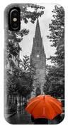 Red Under Rain IPhone Case
