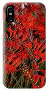 Red Devils Tongue Vine Vertical IPhone Case