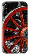 Red Wagon Wheel IPhone Case