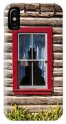 Red Window Log Cabin - Idaho IPhone Case