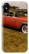 Red With Black Soft Top IPhone Case