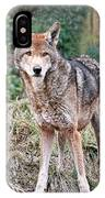 Red Wolf Alert IPhone Case