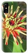 Red Zinnia- Early Bloom IPhone Case