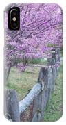 Redbud And Fence IPhone Case