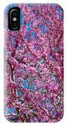 Redbud Tree With Dense Blossoms IPhone Case