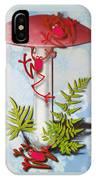 Redfrog And The Magic Mushroom IPhone Case