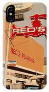 Reds Plumbing IPhone Case