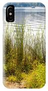 Reeds And Plants Close To The Shore IPhone Case