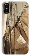 Reefing The Mainsail In Sepia IPhone Case