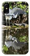 Reflected Great Blue Heron IPhone Case
