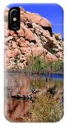 Reflections In Barker Dam By Diana Sainz IPhone Case